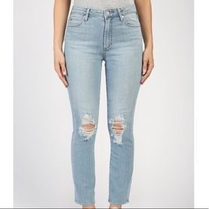 Articles of Society High Rise Ripped StraightJeans